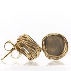 Earrings   Judith Bright.  Ametrine and 14kt gold