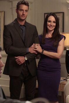 Revenge - Serie TV - look - style - estilo - inspiration - inspiração - moda - fashion - dress - vestido - purple - roxo - elegante - elegant - Victoria Grayson (Madeleine Stowe) - Patrick Osbourne (Justin Hartley)