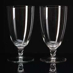 2 Fußbecher Gläser Wilhelm Wagenfeld Glas Lobenstein Art Déco Bauhaus 30er Jahre