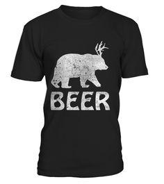 Beer Bear Deer Funny T Shirt Drinking Beer T Shirt for Beer Lover