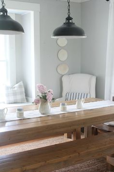 farmhouse spring dining room