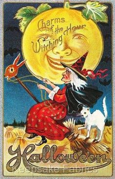 Halloween Charms Witching Hour Quilt Block Multi Sz Free Shipping World Wide (H5