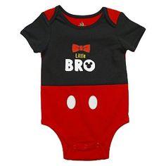 Mickey Mouse Baby Boys' Lil Bro Bodysuit - Black