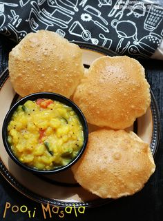 poori masala recipe is one of the most popular combo in hotels.poori masala recipe with step by step pictures.how to make poori masala recipe.