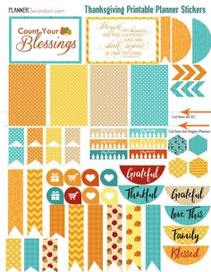Thanksgiving November Printable Planner Stickers EC planner, Happy Planner, Filofax, Kikki K, Plum Paper Planner, Etc.. MATCHING STICKERS https://www.etsy.com/shop/DigiScrapDelights?section_id=17913126 MATCHING BIBLE MARGIN STRIPS https://www.etsy.com/listing/250786944 MATCHING