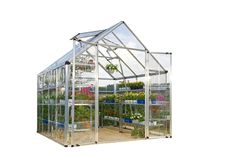 Palram Snap and Grow 8' Series Hobby Greenhouse - 8 x 8 x 9 Silver >>> Review more details here : home diy garden