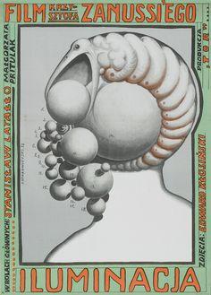 Starowieyski's 1973 poster for Illumination (Krzysztof Zanussi, Poland, 1973).