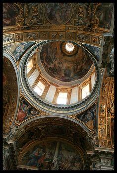 Santa Maria Basilica Interior Ceiling