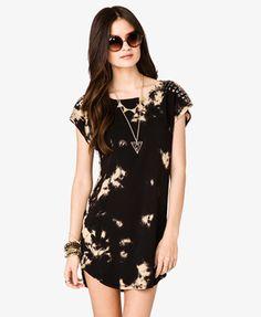 Studded Shoulder Bleached Dress   FOREVER21 - 2023027302