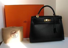Hermes Birkin bag black leather 35m GHW