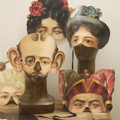 Wonderful Victorian inspired character masks.