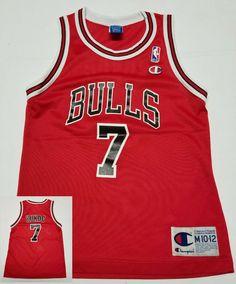 Vintage Chicago Bulls Toni Kukoc #7 NBA Basketball Champion Jersey Youth M 10-12 #Champion #ChicagoBulls Nba Basketball, Chicago Bulls, Champion, Youth, Sports, Vintage, Tops, Fashion, Hs Sports