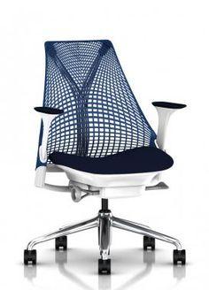 Herman Miller Sayl Chair Blue Suspension Back