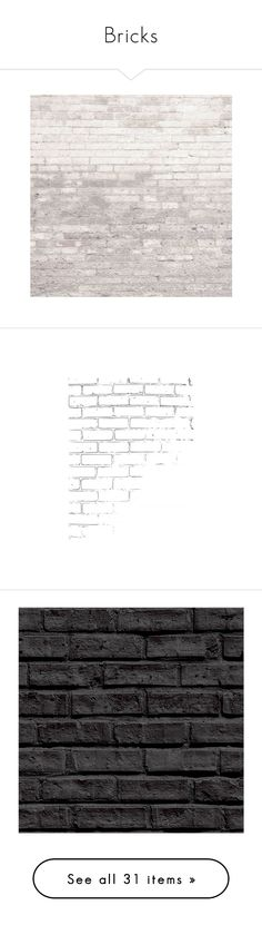 """""""Bricks"""" by ladydivaboss ❤ liked on Polyvore featuring backgrounds, wallpaper, bricks, borders, picture frame, effects, wall, fillers, decor and texture"""