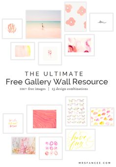Gallery Wall Prints 40+ free art printables for gallery walls | print, i spy and