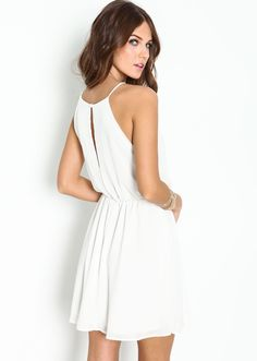 Shop White Off the Shoulder Back Split Dress online. SheIn offers White Off the Shoulder Back Split Dress & more to fit your fashionable needs. 15 Dresses, Cheap Dresses, Short Dresses, Fashion Dresses, Summer Dresses, Dress Backs, Dress Up, White Off Shoulder, Vacation Dresses