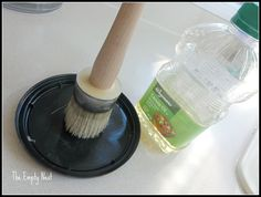 clean wax brushes with cooking oil.