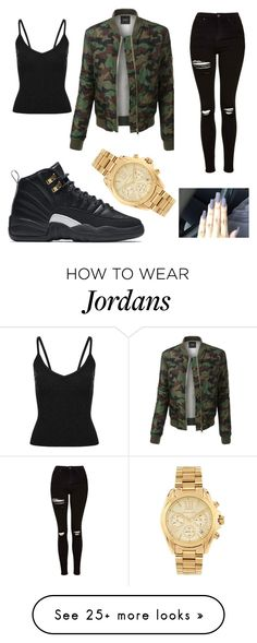 """casual"" by kimbwrly-r-h on Polyvore featuring LE3NO, NIKE, Topshop and Michael Kors"