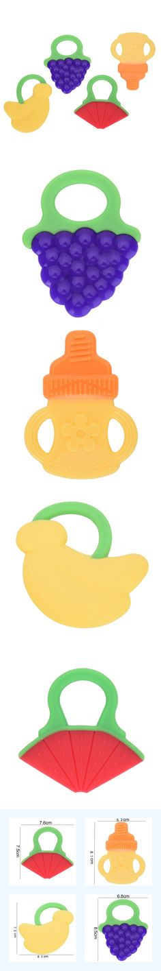 Safe Glister Baby Teether Silicone Teether Infant Training Tooth Fruit Baby Toy Baby Toothbrush Dental Care Teething Massager $1.99