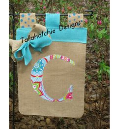 Burlap Initial Garden Flag Personalized by TallahatchieDesigns