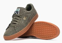 """Puma States """"Winter Gum Pack"""" I already have these and 😍😍😍😍 Boat Shoes, Men's Shoes, Shoe Boots, Dress Shoes, Puma Suede Kaki, Puma Sneakers, Casual Sneakers, Casual Shoes, Pumas"""