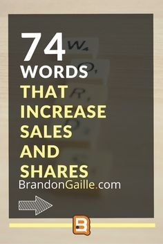 74 Words that Increase Sales and Shares