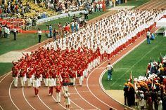 Opening ceremony of the 1976 Montreal Olympic Games