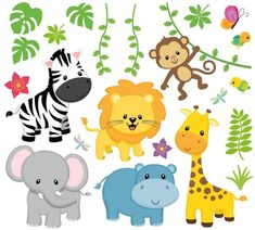 Wandsticker Safari + + + Kinderzootiere + + + von Universumsum + + – + ge (k) + K … lebten Safari Party, Safari Theme, Safari Nursery, Animal Nursery, Lion Nursery, Deco Jungle, Jungle Theme Birthday, Wall Tattoo, Jungle Party