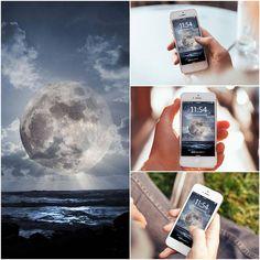 Super Moon Over Sea iPhone 6 Wallpaper