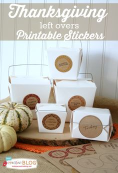 Thanksgiving Printable Stickers for Left Overs | leftovers | TodaysCreativeBlog.net