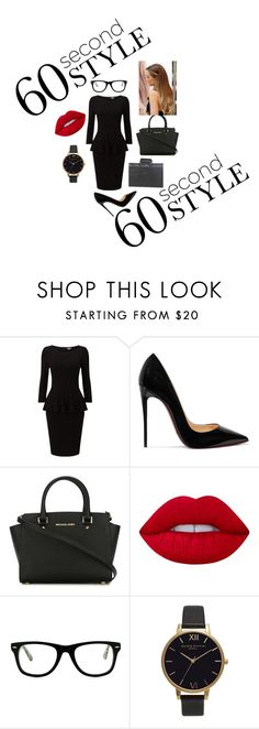 """""""Portfolio"""" by dariah3412 on Polyvore featuring Christian Louboutin, MICHAEL Michael Kors, Lime Crime, Muse, Olivia Burton, Goodhope Bags, jobinterview and 60secondstyle"""
