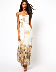 81dadbad3ca Women s White Maxi Dress in Floral Print