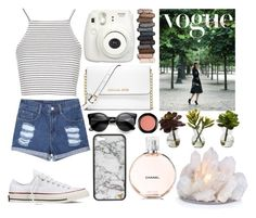 """Vogue"" by zoemoecker ❤ liked on Polyvore featuring Converse, Topshop, MICHAEL Michael Kors, Urban Decay, MAC Cosmetics and Nearly Natural"