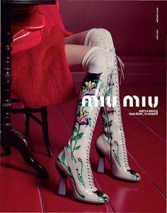 Miu Miu spring shoe campaign