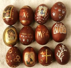 Beautifully made Easter eggs