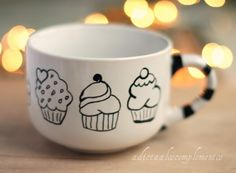 Cute cupcake mug! @Karen Darling Space & Stuff Blog Fisher