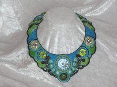 "Colliers - Edles Glasperlencollier ""WaterLily"" - ein Designerstück von Recycling-Art bei DaWanda Choker, Shops, Water Lilies, Recycling, Beaded Embroidery, Designer, Crochet Necklace, Beads, Image"