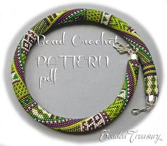 TRIBALIS Bead crochet pattern Necklace pattern Beaded necklace Beaded crochet rope Seed bead pattern Ethnic Boho necklace - Pattern Only Crochet Necklace Pattern, Bead Crochet Patterns, Bead Crochet Rope, Beading Patterns, Beaded Crochet, Peyote Patterns, Bracelet Patterns, Seed Bead Necklace, Beaded Necklace