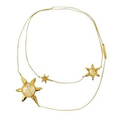 Eddie Borgo Yellow Gold Star Necklace with white agate  Good condition. Very light scratches from one time wear.  Wear this necklace multiple ways!  Gold plated. | Shop this product here: http://spreesy.com/retailflip/199 | Shop all of our products at http://spreesy.com/retailflip    | Pinterest selling powered by Spreesy.com