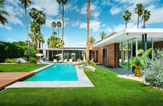 Hot single family residence designed by Studio AR+D Architects situated in Indian Wells, California, United States..