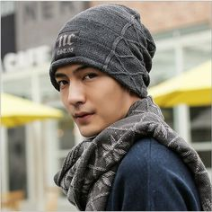 Fashion NC. Beanie For Men Brand Bones Cap  for Winter and Spring For Choose HT51026