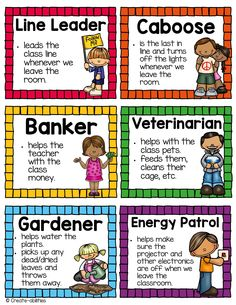 Classroom jobs! 39 jobs to choose from. Large posters and editable versions included! $