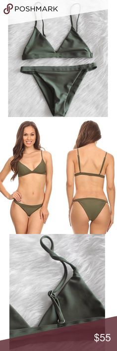 NWT Bikini Introducing Elizabeth's Boutique BIKINI BOX! We have a selection of different bikinis available featuring the trendiest styles of 2017. Seamless triangle bikini top with adjustable shoulder straps. Fully lined, not padded. Banded and seamless cheeky bikini bottoms.  Tags: moana Midori Frankies boutinela lspace Made in USA We suggest washing by hand or on delicate in a washing machine to keep them in the best looking condition. Made with 80% Nylon and 20% Spandex Swim Bikinis