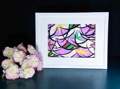 Abstract Curve Black Line-Purple-Yellow-Brown-White-Hand