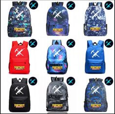 554aec9266  studentfashionbags 12 Styles Fortnite Luminous game backpack Unisex  Student School Book Bag Shoulder bag Travel
