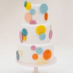 Summer is color... bright and fun colors. An inspiration for a summer wedding cake.