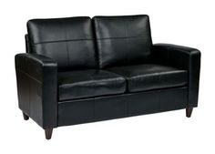 Tips That Help You Get The Best Leather Sofa Deal. Leather sofas and leather couch sets are available in a diversity of colors and styles. A leather couch is the ideal way to improve a space's design and th Wayfair Leather Sofa, Leather Loveseat, Leather Lounge, Soft Seating, Lounge Seating, Art Nouveau, Contemporary Leather Sofa, Modern Contemporary, Office Star