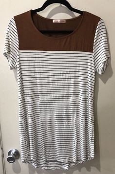 MAMALICIOUS MATERNITY WHITE STRIPE LONG T-SHIRT TUNIC TOP SIZE 12 14 16 BNWT