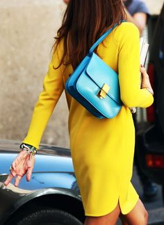 You can't go wrong with bright yellow and aqua blue. If you are feeling that bold this summer