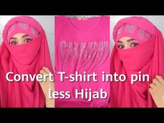 Convert T-shirt into a pinless niqab/full coverage Niqab without pins/Every Day Niqab tutorial - YouTube Niqab, Hijab Fashion, Day, Youtube, T Shirt, Supreme T Shirt, Hijab Fashion Style, Tee Shirt, Youtubers
